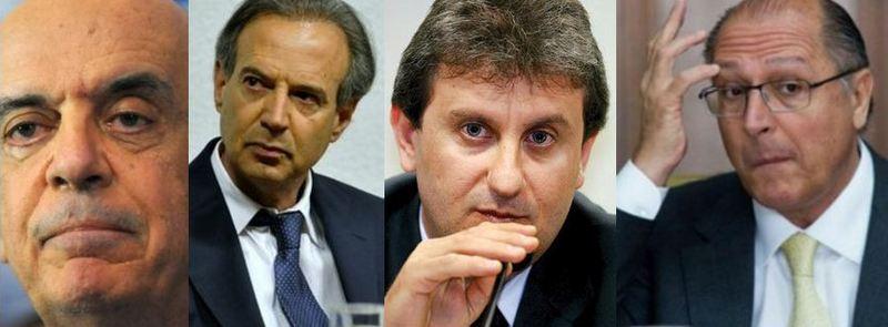 serra, adir, youssef e alckmin