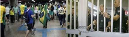 catraca aberta e fechada do metrô